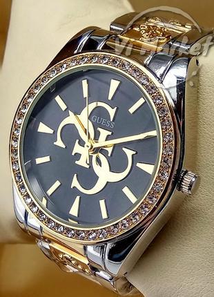 Женские кварцевые наручные часы guess на браслете комбинирован...