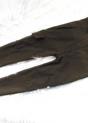 Стильные стрейчевые штаны брюки милитари river island
