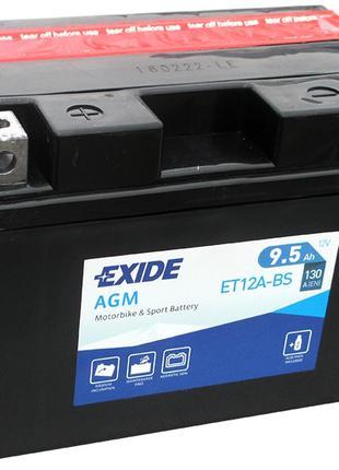 Аккумулятор для мотоцикла Exide ET12A-BS = YT12A-BS