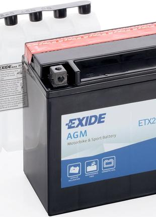 Мото аккумулятор EXIDE ETX20H-BS = YTX20H-BS