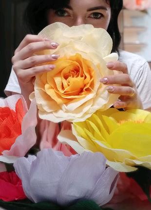 Цветы из бумаги. Оформление фотозон. Ростовые цветы.
