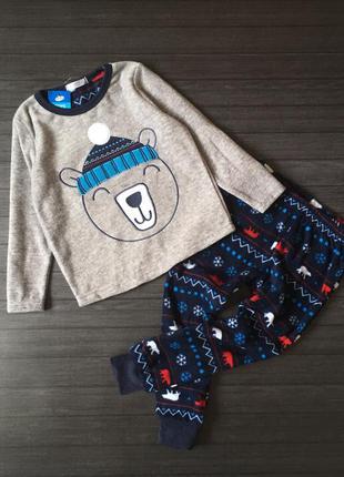 Тёплая флисовая пижамка, польша,  98/104 см