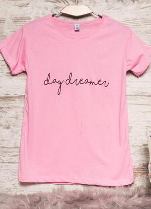 Женская футболка 👕 коттон, розовая, турция 🇹🇷