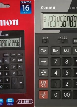 """Калькулятор НОВЫЙ, 16 разрядный, """"Canon AS-888 II"""", 198-140-36 мм"""