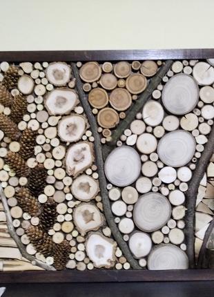 Натуральне еко-панно з дерева, ручна робота, унікальний дизайн