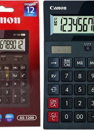 """Калькулятор НОВЫЙ, 12 разрядный, """"Canon AS-1200"""", 177 -119 -37 мм"""