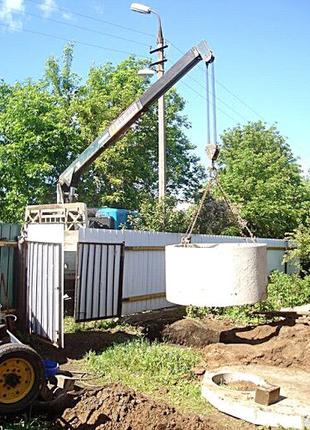 Копка земляные демонтажные работы сливные ямы демонтаж траншеи