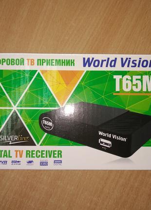 Т2 ресивер World Vision T65M (DVB-T2 приемник, тюнер, приставка)