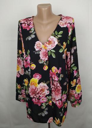Блуза легкая красивая в цветы бабочки george uk 12/40/m