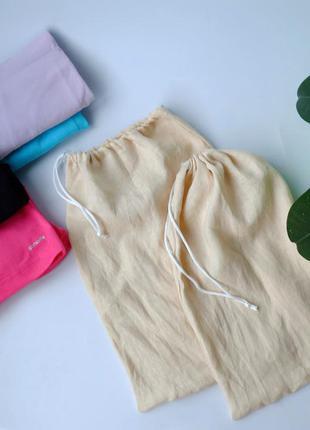 Льняной эко мешок для хранения вещей, продуктов