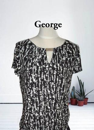 🌹🌹george вискозная удлиненная женская футболка в принт🌹🌹🌹
