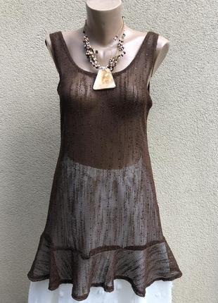 Блузка( туника,платье) пляжное, сетка,этно бохо стиль, италия