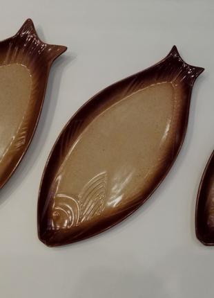 Жаровни - блюда- рыбки, набор из 3 единиц
