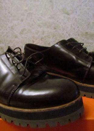 AGL Туфли оксфорды на шнуровке с кроличьим мехом