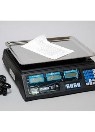 Настольные электронные торговые весы Витек ACS 208 (55 кг)