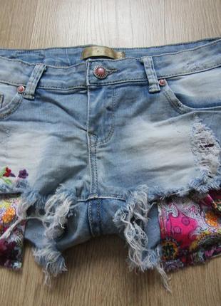 Шикарные короткие шорти с вышивкой