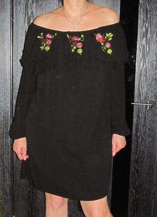 Платье с открытыми плечами new look р.16