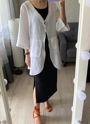 Льняная накидка/пиджак/кимоно yock