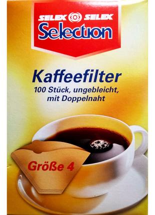 Бумажные фильтры SELECTION для молотого кофе. Размер №4 Германия.