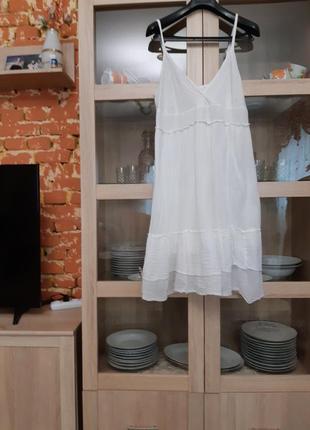 Милое котоновое платье сарафан (марлевка) большого размера