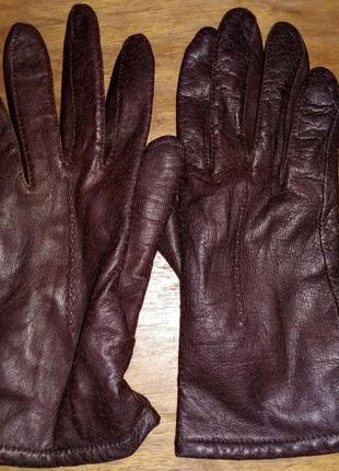 Кожаные женские, демисезонные перчатки