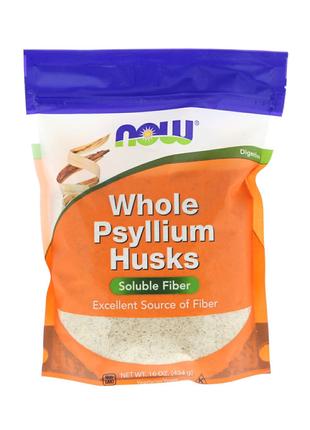 Now Foods, Псиллиум/psyllium семена подорожника,(454 г)