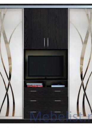 Шкаф купе под телевизор, шкаф купе Камелот. Рассрочка онлайн 0%.