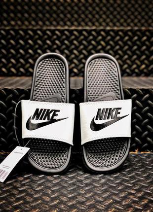 Летние тапочки Sleepers Nike Black|White