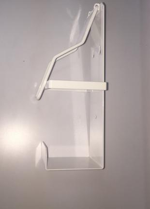 Локтевой дозатор для антисептика под флакон 1л транспортный белый