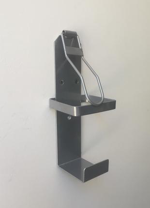 Локтевой дозатор для мыла и антисептика под 1л флакон SK серый