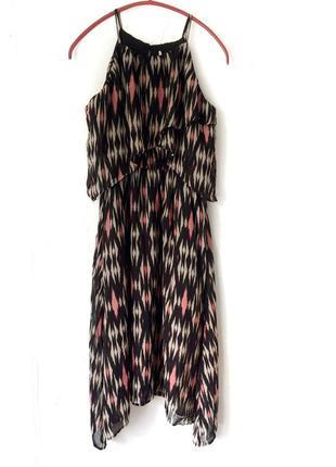 Платье  h&m, шифон , миди,