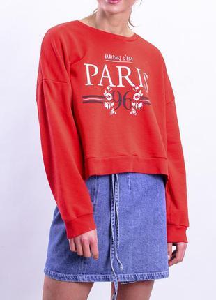 Женский красный свитшот оверсайз от new look