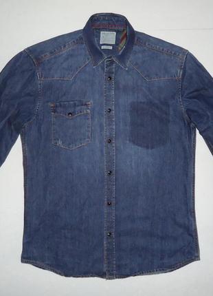 Рубашка джинсовая selected jeans m