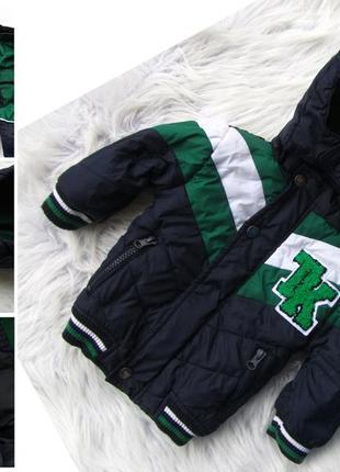 Стильная утепленная куртка с капюшоном tom et kiddy