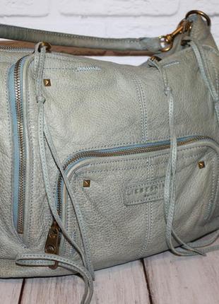 Вместительная кожаная сумка от liebeskind 100% натуральная кожа