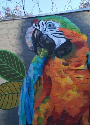Граффити, художественное оформление, рисунок на ст ене,  логотип