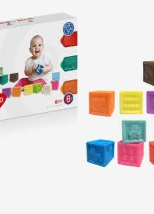 Развивающие игрушки, рельефные кубики HUANGER