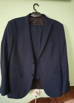 Мужской синий костюм (пиджак, брюки) next  tailoring