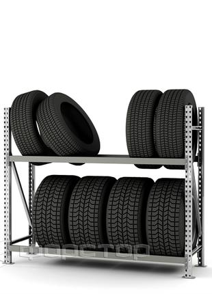 Металлический стеллаж для шин 1300x1500x500-2