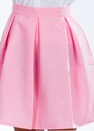 Юбка расклешенная, короткая мини летняя. розовая. ассортимент ...