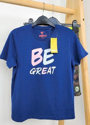 122/128 футболка для мальчика подростка pepperts