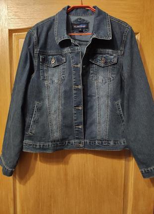 Стрейчевая джинсовая куртка, пиджак, джинсовка