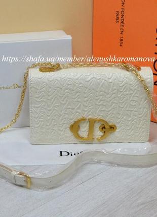 Женская сумка кожа в ст. диор christian dior
