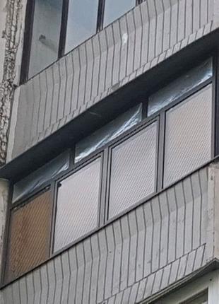 Балкон алюминиевый, угловой