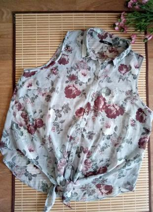 Блуза / рубашка без рукавов батал