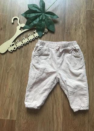 Крутые штаны брюки вельвет zara 1-3 мес
