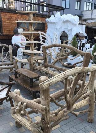 Деревянная мебель для сада, дачи и ресторана. Driftwood, ручная р