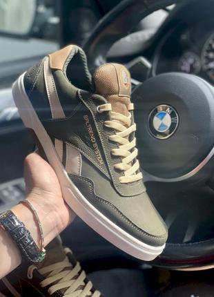 Новые мужские кроссовки цвета хаки