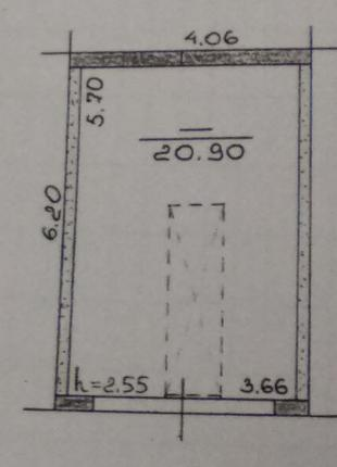 Гараж 4х6 м2, с документами, 5 мин. м. Героев Труда, 2500
