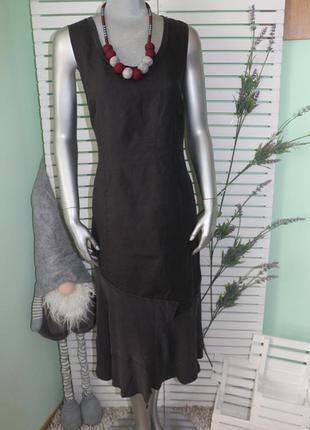 Длинное льняное платье nile